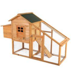 "75"" Deluxe Wooden Chicken Coop Hen House Rabbit Wood Hutch Backyard w/Nest Box - http://pets.goshoppins.com/backyard-poultry-supplies/75-deluxe-wooden-chicken-coop-hen-house-rabbit-wood-hutch-backyard-wnest-box/"