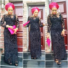 Lovely Lace Iro and Buba Style http://www.dezangozone.com/2015/12/lovely-lace-iro-and-buba-style.html - DeZango Fashion Zone