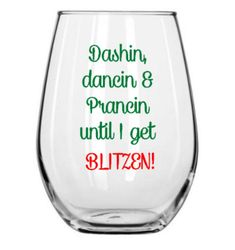 Dashin Dancin and Prancin Funny Christmas Wine by BellaCuttery