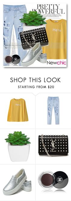 """NewChic Style!"" by dianagrigoryan ❤ liked on Polyvore featuring Yves Saint Laurent and Chanel"