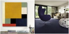 The use of colour in art by #TheoVanDoesburg and interior design. Discover the 50 shades of #Asteranne by @dessohomenl