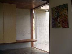 benchseat by clinton murray architect, via Flickr Plaster Walls, Mirror, Garden, Furniture, Home Decor, Garten, Decoration Home, Room Decor, Mirrors