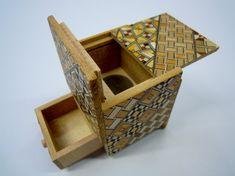 Japanese Puzzle box (Himitsu bako)- 54mm (2.1inch) Kaku Cube 4steps with hidden…