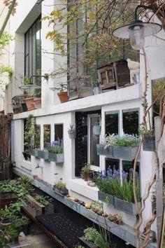 urban garden. a ceramicist + an architect in paris.