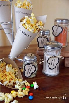 #DIY popcorn bar with #free #printable labels is the perfect crowd pleaser   cherylstyle.com