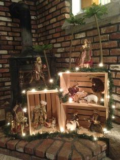 Login - Nativity Diy How to Make Silver Christmas Decorations, Christmas Mantels, Rustic Christmas, Christmas Holidays, Christmas Presents, Christmas Wreaths, Christmas Village Display, Christmas Nativity Scene, Christmas Villages