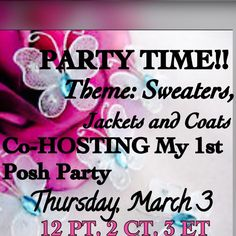 THEME UPDATE: Best in Sweaters, Jackets and Coats Thank you ALL for the support and Posh Love!!  So appreciatedJoin me as I Co-Host my very FIRST Posh Party!   So excited!!!Please spread the word!!  Will be looking for new closets as well Thank you so much ladies. DaneenTHEME BEST IN SWEATERS, JACKETS AND COATS. I only get 100 picks and will do my best. Posh compliant closets. Thanks again for your support. Other