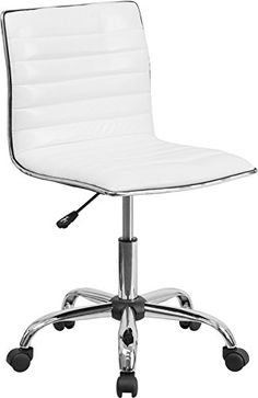 Flash Furniture Mid-Back Armless Ribbed Designer Task Chair, White -  http://www.wahmmo.com/flash-furniture-mid-back-armless-ribbed-designer-task-chair-white/ -  - WAHMMO