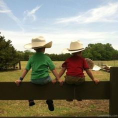 Country boys cute outdoors trees kids country hats
