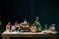 Add Christmas house and village scenes for a magical festive feel. Christmas 2019, Christmas Home, Christmas Gifts, Christmas Ornaments, Beautiful Christmas Decorations, Holiday Decor, Festive, Xmas Gifts, Christmas Presents