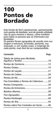 Manual bordado - 100 Pontos de Bordado