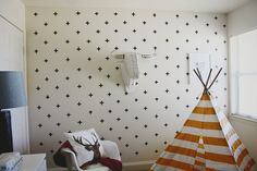 Everything Emily: DIY Washi Tape Wall Decals... Create a focal wall for your home for under $10!!