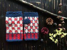 レトロ小花のハンドウォーマー【S】|手袋・ミトン|ハンドメイド通販・販売のCreema