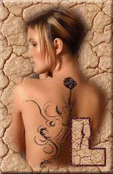 Alfabeto de chica con tatuaje. | Oh my Alfabetos!