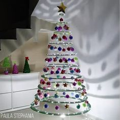 Make yourself a different Christmas tree this year! See more than 30 Creative Christmas tree inspirations here! Make yourself a different Christmas tree this year! See more than 30 Creative Christmas tree inspirations here! Different Christmas Trees, Creative Christmas Trees, Xmas Tree, Diy Xmas, Christmas Crafts, Christmas Decorations, Christmas Ornaments, Holiday Decor, Do It Yourself Zimmer