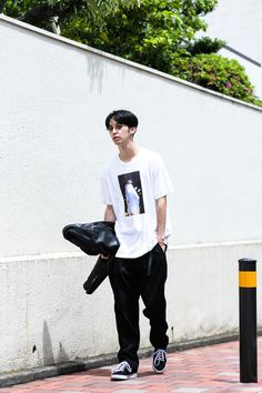 ストリートスナップ渋谷 - HAYASEさん - ARMANI, FUCKING AWESOME, NIKE SB, Supreme, アルマーニ, ファッキンオーサム