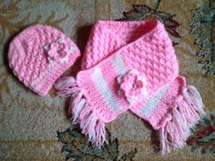 Hainute copii tricotate si crosetate la comanda: Caciulita si fular tricotate Baby Shoes, Knitting, Crochet, Kids, Fashion, Long Scarf, Tricot, Young Children, Moda