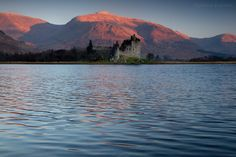 Loch Awe & Kilchurn Castle at sunset