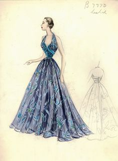 Bergdorf Goodman Archives. Coctail & Evening Dresses 1950-69