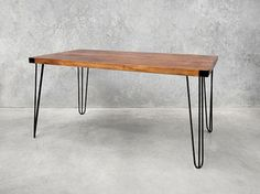 A retro, industrial take on a design this Holy Funk hairpin dining table is a unique, affordable and will adapt seamlessly to it's surroundings. View online now Table, Coffe Table, Retro Furniture, Dining Table In Kitchen, Furniture, Retro Dining Table, Dining Table Online, Danish Kitchen, Dining