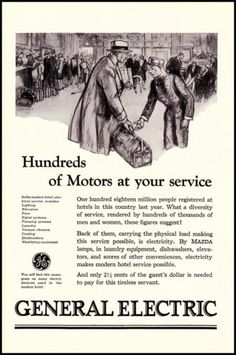 1927 General Electric GE Illustrated Train Station Vintage 1920's Print Ad GE Ad