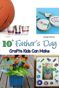 With Father's Day coming up, I need ideas on what my kids can make. Here are 10+ Father's Day Crafts for Kids to make