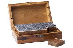 70 Pc Wooden Rubber Upper Lower case Alphabet Letters Number Stamps Set Retro #TGO