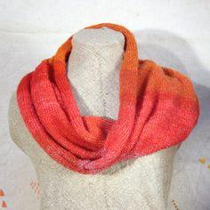 Coral Pink Wrap Infinity Shawl Scarf Mobius. $60.00, via Etsy.