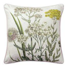 Bloomingville Flowers 45x45cm Cushion, Blush