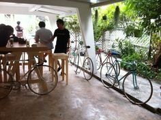 bike cafe - tall table