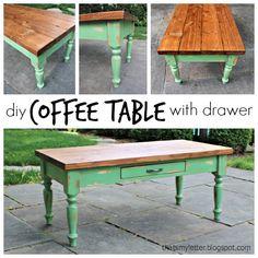 DIY Coffee Table | http://thesawdustdiaries.com/diy-coffee-table/