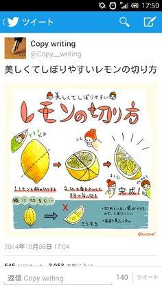 レモンの切り方