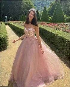 Sweetheart neck Appliques Pink Tulle Ball Gown Prom Dress, Formal Evening Dress T848 by sweetdressy, $152.10 USD Pink Prom Dresses, Tulle Prom Dress, Quinceanera Dresses, Modest Dresses, Homecoming Dresses, Lace Dress, Dance Dresses, Wedding Dresses, Tulle Balls