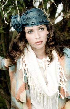 Turbans, Infinity Cowl wool felted, shibori headband, applique, 3 pieces