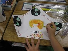 Foldable for the earth's rotation around the sun - the reasons for the seasons by annabelle