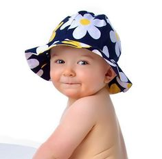 Reversible Sun Hat Pattern with Ruffled or Plain Brim - Baby and Child PDF Pattern