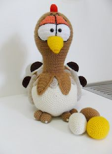 Crochet Easter Chicken.