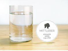 MITTLERER / Ø 8-8,5CM / WEISS (Glas / Becher) von GLÄSERNE TRANSPARENZ auf DaWanda.com