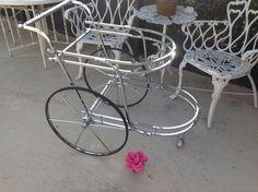 SOLd....MID CENTURY MODERN Chrome Bar Cart On Sale at Retro Daisy Girl