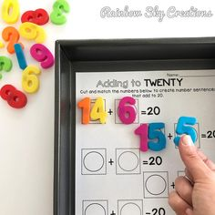 Today I recycled an addition worksheet and turned it into an interactive magnetic board using a baking tray and magnetic numbers. I love finding ways to use my resources over and over, especially when they let the students practice skills using hands on materials! #teacherhacks #teacherhacktuesday #teachersofinstagram #teachersfollowteachers #aussieteachers #iteach #iteachfirst