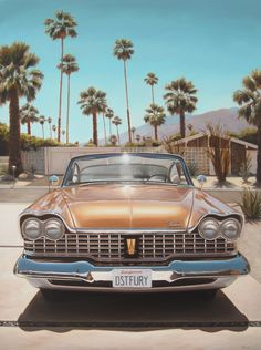 "Danny Heller - Plymouth In Driveway, oil on canvas, 36x27,"" 2012"