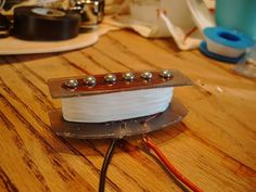 Learn how to make a single coil guitar pickup! It won't look or sound exactly like a regular pickup, but it's a fun and interesting project.