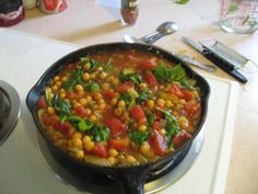 nannykim's recipes: Chickpea Marsula-- A Mcdougall recipe Mcdougall Diet, Mcdougall Recipes, Vegetable Soup Healthy, Vegetable Recipes, Plant Based Diet, Plant Based Recipes, Chickpea Recipes, Vegan Recipes, Indian Food Recipes