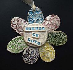Summer of Love ceramic flower decoration