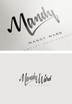 custom typography in branding | Mandy Ward identity