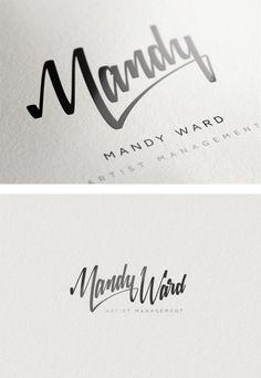 custom typography in branding | Mandy Ward identity - excelencia tipográfica.