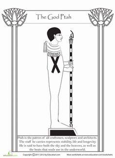 Fifth Grade History Worksheets: Egyptian God Ptah