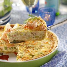 Krämig räkpaj med pepparrotssting Lunch Recipes, Baby Food Recipes, Seafood Recipes, Cooking Recipes, Best Cauliflower Pizza Crust, Party Friends, Quiches, Zeina, Scandinavian Food