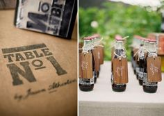 wedding- like the table assignment stamped to a wood piece and that the guest could have a refreshment immediately Wedding Tumblr, Wedding Blog, Wedding Events, Our Wedding, Wedding Receptions, Wedding Stuff, Weddings, Best Friend Wedding, Marrying My Best Friend