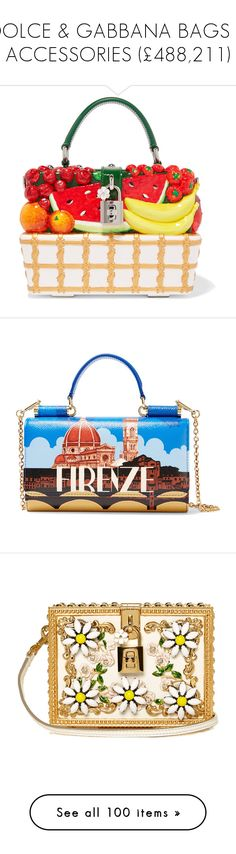 """DOLCE & GABBANA BAGS & ACCESSORIES (£488,211)"" by fendilicious ❤ liked on Polyvore featuring bags, handbags, clutches, red, dolce gabbana handbags, multi colored clutches, hand bags, white clutches, man bag and royal blue purse"